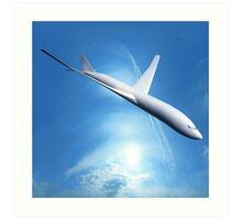 Dream Liner in the Sky Art Print