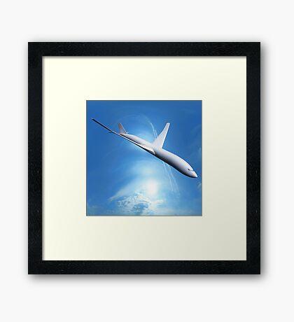 Dream Liner in the Sky Framed Print