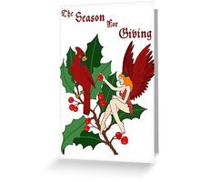 Two Cardinals/The Season for Giving! Greeting Card