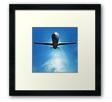 Dream Liner in the Sky Framed Print