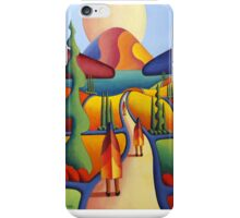 pilgrimage to the sacred mountain with 3 figures iPhone Case/Skin