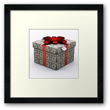 USD Present Box with Red Ribbon by Nasko .