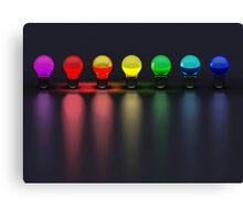 Disco Bulbs Canvas Print
