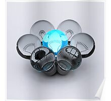 Group of Bulbs Poster