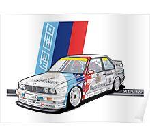 BMW - M3 E30 DTM Poster