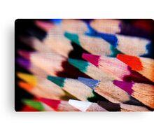 Colour Pencil texture Canvas Print