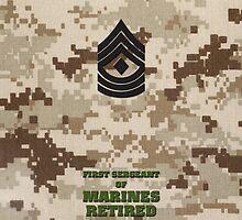 USMC E8 1stSgt Retired Desert by Sinubis