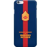 USMC E7 GySgt Retired Blood Stripe iPhone Case/Skin