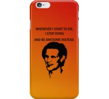 11th Doctor feels awesome. iPhone Case/Skin
