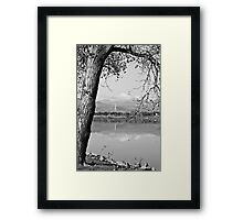 Colorado Twin Peaks Reflections in Black and White Framed Print