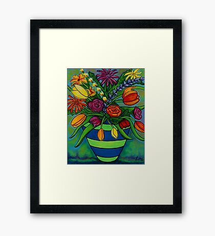 Funky Town Bouquet Framed Print