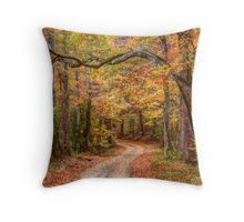 Tangled Limbs and Fallen Leaves Throw Pillow