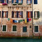 Washday in Venice by Judith Hayes