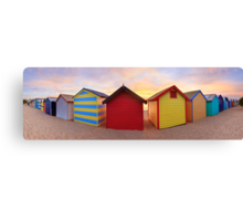 Brighton Beach Boxes, Melbourne, Victoria, Australia Canvas Print