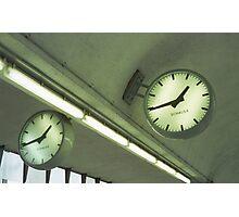 Vienna Railway Station Clocks Photographic Print