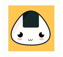 Kawaii Rice Ball Art Print