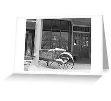 Winter Wheelbarrow B&W 2 Greeting Card