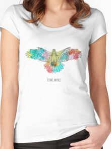 Eagle ethnic animals Women's Fitted Scoop T-Shirt