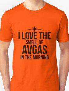 I Love The Smell Of Avgas In The Morning - Black Unisex T-Shirt