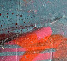 Pink 'n Orange Abstract Sticker
