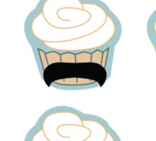 cupcake mustaches Sticker