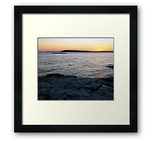 Ocean Point Sunset Framed Print