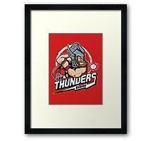 THE THUNDERS BASEBALL Framed Print
