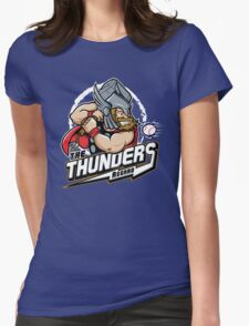THE THUNDERS BASEBALL Womens Fitted T-Shirt