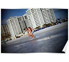 surfin the clearwater Poster
