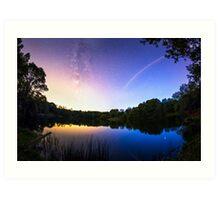 Blue hour Milky Way Art Print