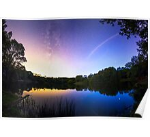 Blue hour Milky Way Poster