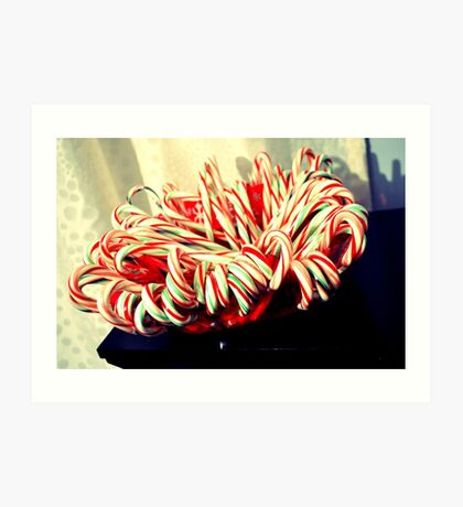 candy cane family Art Print