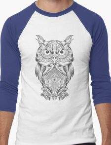 Owl gift Men's Baseball ¾ T-Shirt