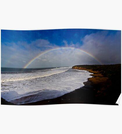 Bells Beach Rainbow Poster