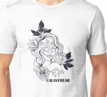 CALAVEREAR sugar skull girl Unisex T-Shirt