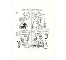 beastiality by numbers Art Print
