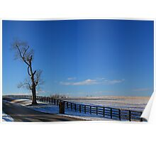 Old Frankfort Pike in Winter Poster