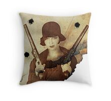Louise Brooks  and her guns Throw Pillow