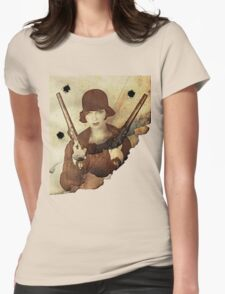 Louise Brooks  and her guns Womens Fitted T-Shirt