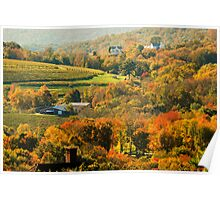 Autumn in the Litchfield Hills ~ Connecticut, USA Poster
