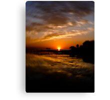 Florida Sunset Spinner Canvas Print
