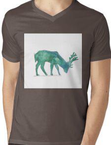 Prongs Watercolour Mens V-Neck T-Shirt
