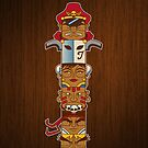 Street Fighter Totem by Bamboota