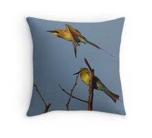 Sunset Bee-Eaters Throw Pillow