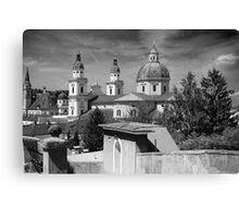 Salzburg Black & White ~ Austria, Europe Canvas Print