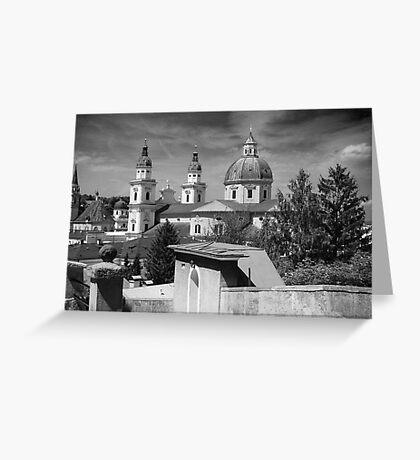 Salzburg Black & White ~ Austria, Europe Greeting Card
