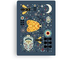 Midnight Bugs Canvas Print