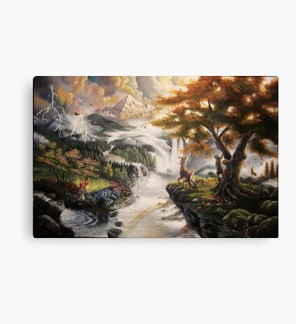 Kinkade replica Canvas Print