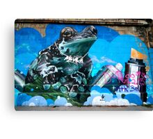 Frog Graffiti, Vienna, Austria Canvas Print