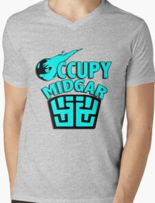 Occupy Midgar Mens V-Neck T-Shirt